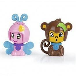 Pin y Pon Pack 2 Mascotas - Mariposa y Mono