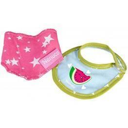 Nenuco Display Ropita Básica - Pack Babero y Pañuelo.