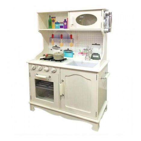 Comprar cocina vintage madera con accesorios de for Cocinas con accesorios