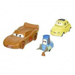 Cars 3 Pack 2 Coches - Rayo McQueen - Luigi & Guido.