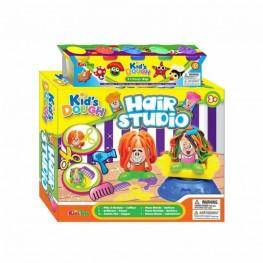 "SET PLASTELINA ""HAIR STUDIO"" CON 5 BOTES"
