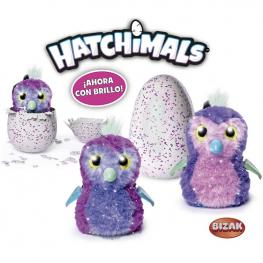 Hatchimals Penguala Brillos Mágicos Lila.