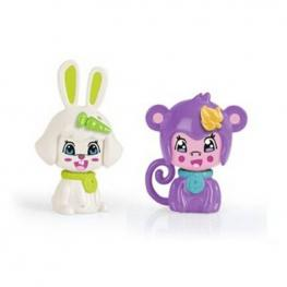 Pin y Pon Pack 2 Mascotas - Conejito y Mono