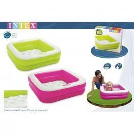 Comprar piscina bebe hinchable cuadrada de intex kidylusion for Piscina hinchable bebe