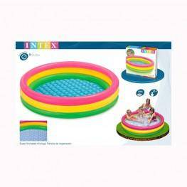 Comprar piscina hinchable 3 aros sunset grande de intex for Piscinas hinchables grandes