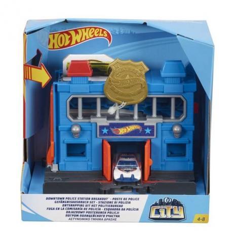 Hot Un Stock >> Comprar Hot Wheels City - Fuga En La Comisaría De Policía. de - Kidylusion