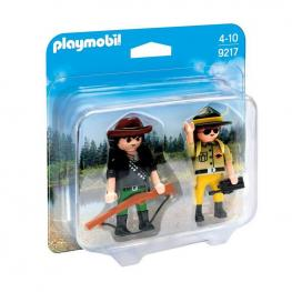 Playmobil - Duo Pack Ranger y Cazador Fugitivo.