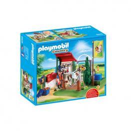 Playmobil - Set De Limpieza Para Caballos.