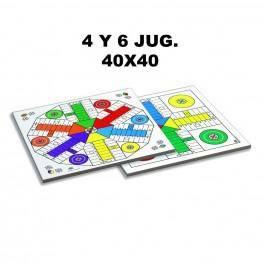 TABLERO PARCHIS 6 JUGADORES 40X40