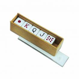 Accesorios 5 Dados Poker.