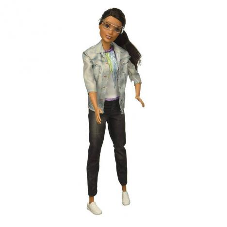 mu/ñeca latina con accesorios Barbie Quiero Ser ingeniera rob/ótica Mattel FRM11