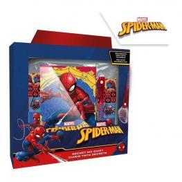 Spiderman Set Diario Y Boli Mágico.