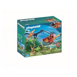 Playmobil - Helicóptero Con Pterosaurio.
