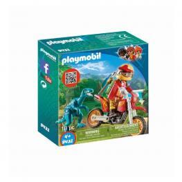 Playmobil - Moto Con Velociraptor.