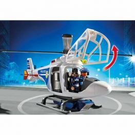 Playmobil Helicóptero De Policía Con Luces LED.
