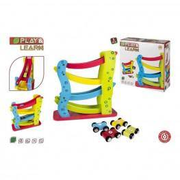 Play & Learn - Pista Roller De Coches De Madera.