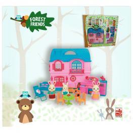Casa Con Muebles y Familia 3 Animales.