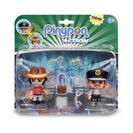 Pin y Pon Action Pack 2 Figuras - Aventurero y Policía.