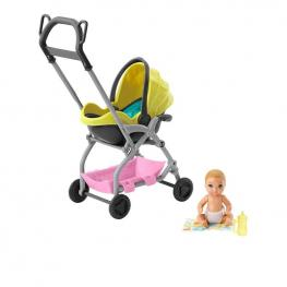 Barbie Skipper Babysitters Bebés y Accesorios - Carrito Amarillo.