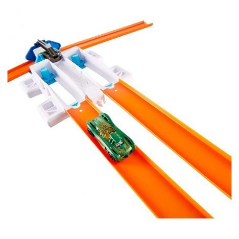 Hot Wheels - Track Builder Doble Lanzador Competición.