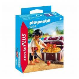Playmobil - Special Plus: Pirata Con Cofre Del Tesoro.