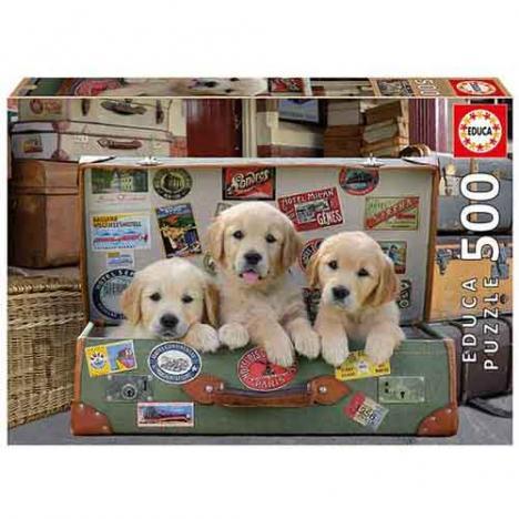 Puzzle Cachorros En El Equipaje 500 piezas