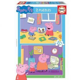 Puzzle Peppa Pig 2x20 piezas