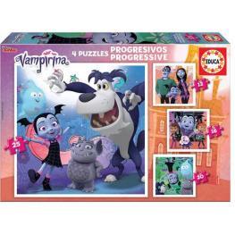 Puzzle Progresivo Vampirina 12-16-20-25 piezas