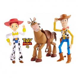 Toy Story 4 - Pack de Aventura Woody, Perdigón y Jessie.-