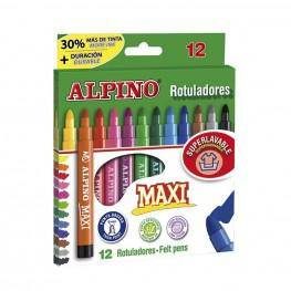 12 ROTULADORES ALPINO MAXI