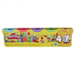 Play-Doh Pack 4 Botes + 1 Bote Dorado