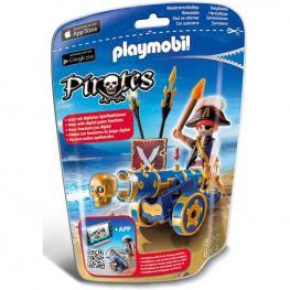 Playmobil - Pirates: Cañón Interactivo con Pirata Azul