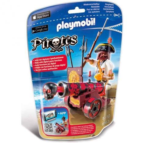 Playmobil - Pirates: Cañón Interactivo con Bucanero Rojo