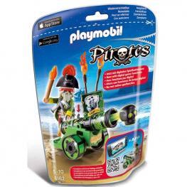 Playmobil - Pirates: Cañón Interactivo con Capitán Pirata Verde