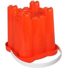 Cubo Plástico Castillo Cuadrado