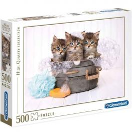 Puzzle Kittens and Soap 500 Piezas