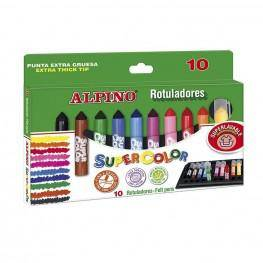 10 ROTULADORES ALPINO SUPERCOLOR