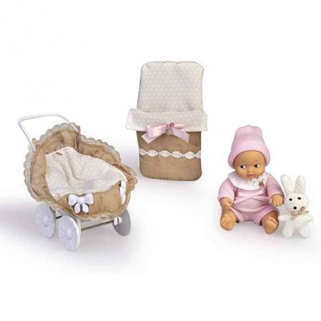 Barriguitas Carrito con Muñeca Bebé y Ropita