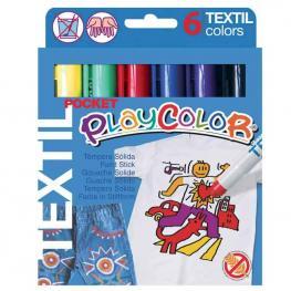 Estuche 6 Témperas Sólidas Textil Pocket