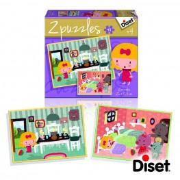 Puzzle Cuento 2x48 Casita De Chocolate.