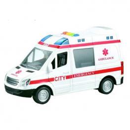 Ambulancia 1:16 con Luz y Sonido