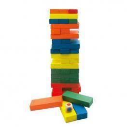 Juego Torre de Madera Colores 54 Piezas