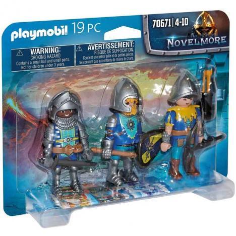 Playmobil - Novelmore: Set de 3 Caballeros de Novelmore