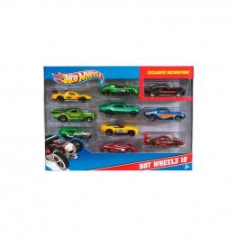 Hot Wheels Pack 10 Vehículos.