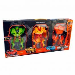 Set 3 Robots Transformables