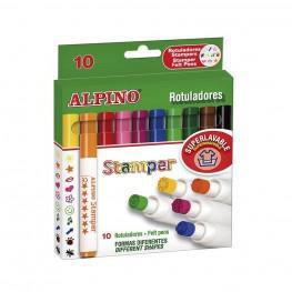 10 ROTULADORES STAMPER ALPINO