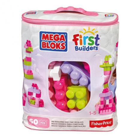 Mega Blocks Eco - 60 Rosa First Builder.