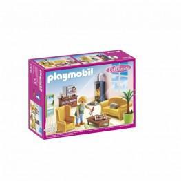 Playmobil Sala De Estar Con Fuego.