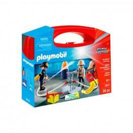 Playmobil - Maletín Grande De Bomberos.