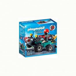 Playmobil Ladrón Con Quad y Botín.